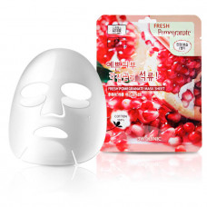 [3W CLINIC] Тканевая маска для лица ГРАНАТ Fresh Pomegranate Mask Sheet